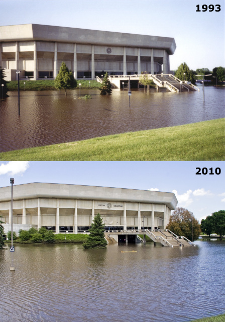 Floods: Hilton Coliseum, 1993 and 2010