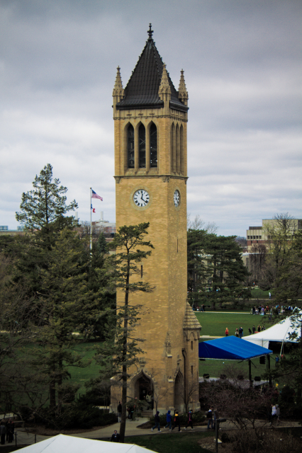 Campanile during VEISHEA