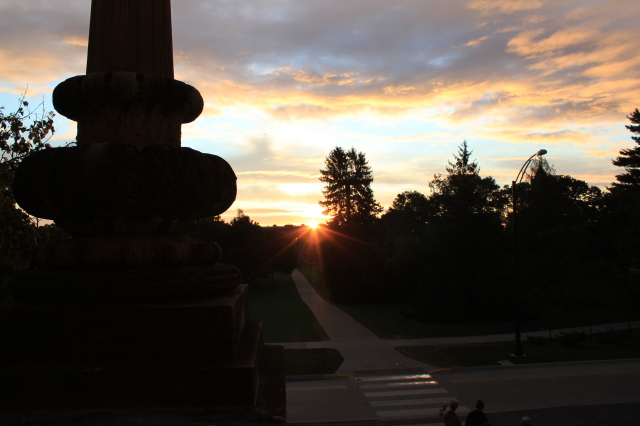 Sunrise from the steps of Beardshear
