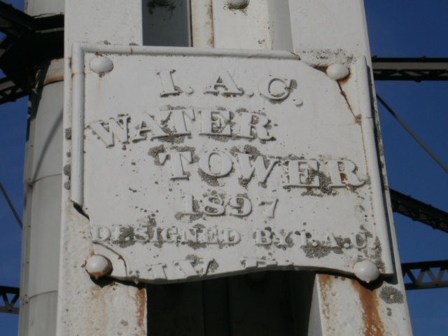 water tower plaque