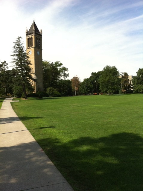 Campanile on a clear summer day