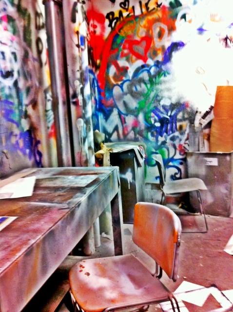 Spray Paint Classroom