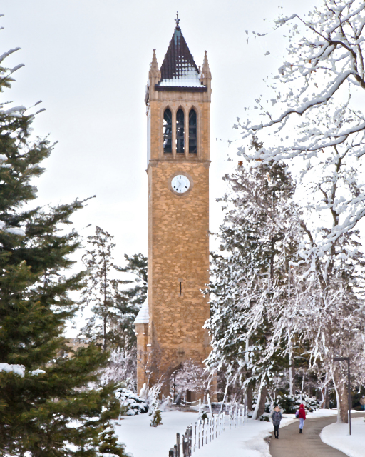 Fresh snow at the Campanile