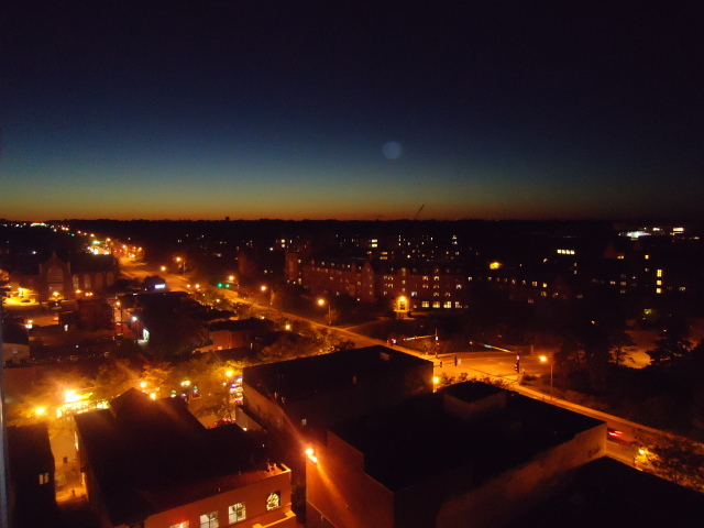 Campus Town Skyline at night