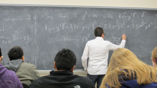 Mathematics Lecture in Carver Hall