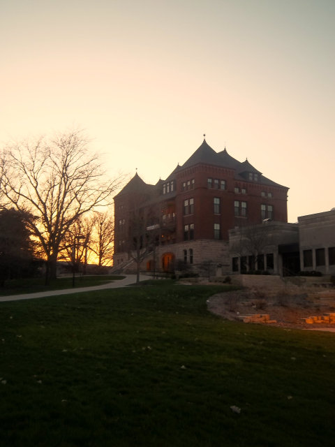 Catt Hall at Dusk