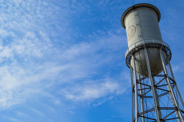 Marston Water Tower and a Blue Sky