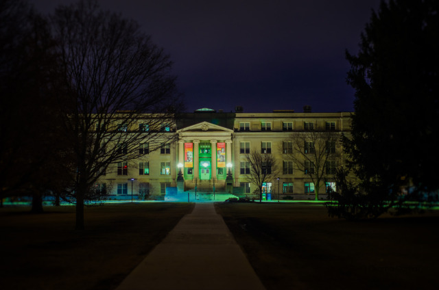 Curtiss Hall at Night