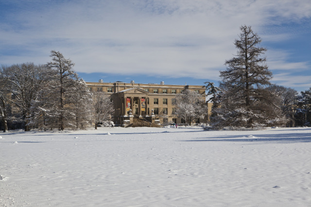 Curtiss Hall - Winter Scene