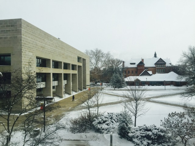 Library & Morrill Hall in winter