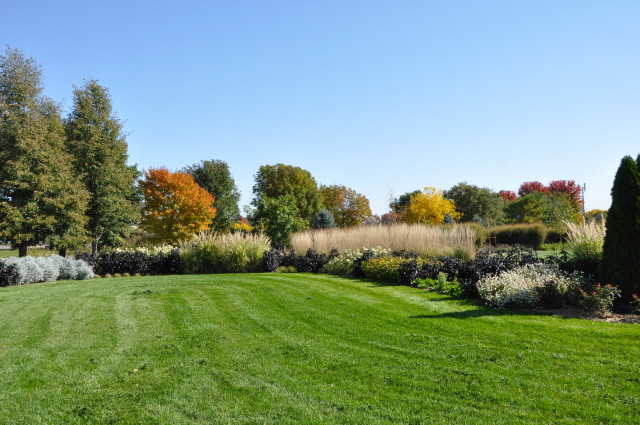 Campanile Garden at Reiman Gardens in fall