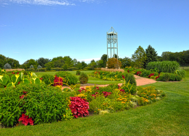 Campanile Garden at Reiman Gardens in the summer