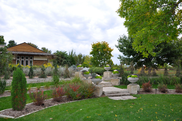 Formal Lawn Garden at Reiman Gardens in the fall