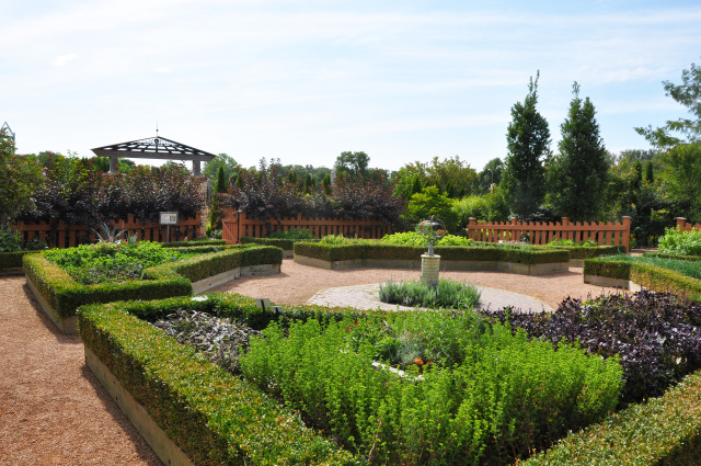 Herb Garden at Reiman Gardens in the summer