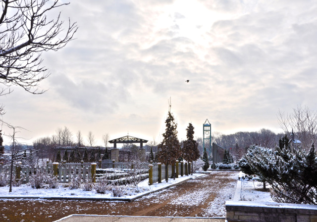 Herb Garden at Reiman Gardens in the winter