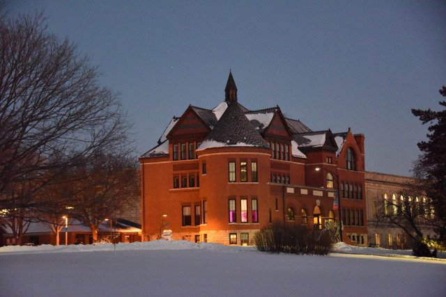 Morrill Hall on a Snowy Morning