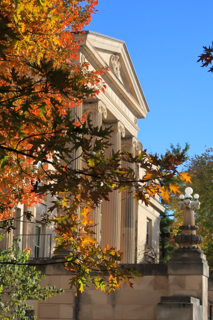 Curtiss Hall during fall