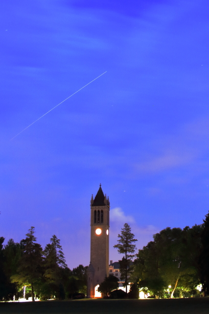 International Space Station transits accross ISU skies