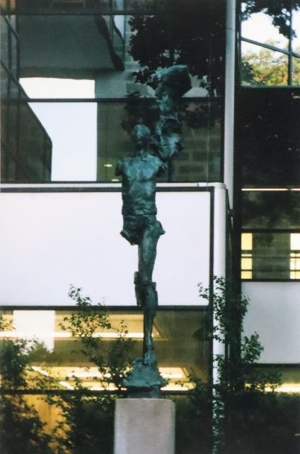 Parks Library Sculpture on Film